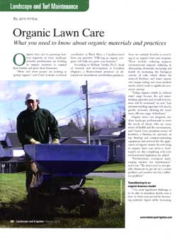 Organic Lawn Care Banner Advertisement